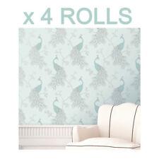 Duck Egg Blue Teal Wallpaper Peacock Empress Wallpaper Fine Decor Deal 4 Rolls