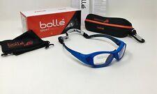 Bolle® Sport 12388 Swag Platinum KIDS Safety Sunglasses, Blue Frame, Clear Lens