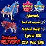 Pokemon Sword Shield / Zacian Zamazenta Bundle / 6IV Max EVs / + Rusted Items