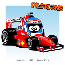Print on Canvas Ferrari F399 1999 #3 Mika Salo (FIN)  by BM