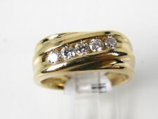 Handsome Estate 14k Yellow Gold Natural .50ctw Diamond Mens Gents Ring 8g eb3837