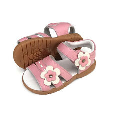 Girls real Leather Sarie Sandals appx1-5yr pink toddler child kids walker shoes