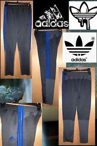 ADIDAS Boys' 14/16 L Stay-Cool-Climalite Athletic Sport Pant, Black/Gray/Blue