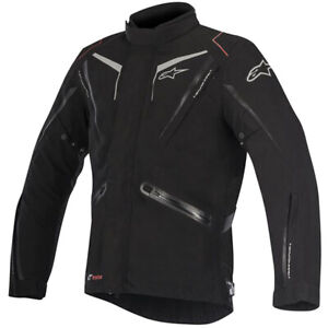 Alpinestars Yokohama Drystar Waterproof Motorcycle Motorbike Jacket - Black