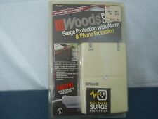 Woods Surge Protection With Alarm Plus Phone Protection 6 outlet  # 2108