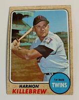 1968 Harmon Killebrew # 220 Minnesota Twins Topps Baseball Card HOF