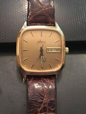 VTG Men's Omega Seamaster Watch, Automatic, 25 Jewels, Gold Tone, Date/Day Repai