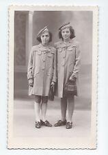 BP276 Carte Photo vintage card RPPC Femme jeune fille uniforme mode fashion