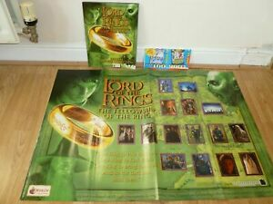 LORD of the RINGS Fellowship of the RING Complete MERLIN Official STICKER ALBUM