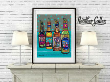 Day of the Dead Frida Kahlo Mexican Folk Art Poster Print 11x14 Heather Galler