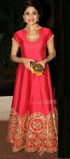 Indian Stylish Designer Bollywood Party Red Pink Gown Anarkali Salwar Suit Kamee