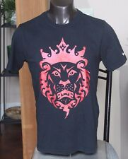 "Nike  LeBron James ""Lion Crown"" Dri-Fit T-Shirt Black/Red Mens sz Large EUC #912"