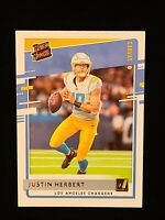 2020 Donruss Justin Herbert CANVAS RATED ROOKIE #303 SP RC CHARHERS ROY!