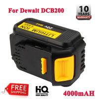 NEW 20V 4.0Ah Max XR Lithium Replacement Battery For Dewalt DCB200 DCB204 DCB205