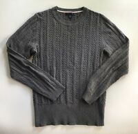 Women's Tommy Hilfiger Gray Cable Knit Crew Neck Sweater-Size M
