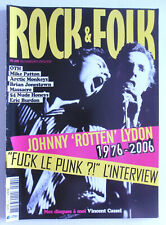 ROCK AND FOLK N° 462 février 2006 JOHNNY ROTTEN OTH VINCENT CASSEL MIKE PATTON