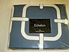 Echelon Oslo Slate Blue Full / Queen Duvet Cover & Sham Set - India