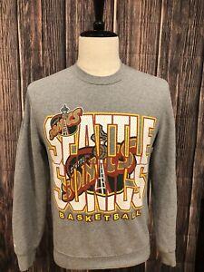 Mitchell & Ness Mens NBA Seattle Sonics Sweatshirt Gray Small / Hardly Worn!