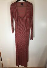 Vivienne Westwood Anglomania Full Length Striped Jersey Dress Size Medium