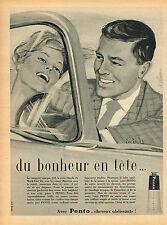 PUBLICITE ADVERTISING 114  1959  PENTO  brillantine