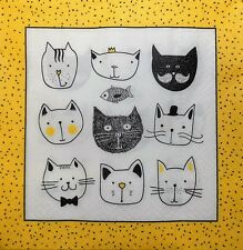 4 x Single Paper Napkins Cats Fish Decoupage and Crafting 5