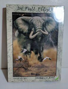 RGS Group Puzzle In Full Flight Elephant 1000 Piece Andrew Bone 2004