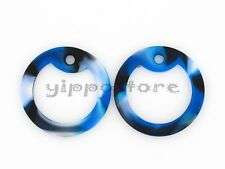 4 Blue Camo Silicone Military Army Dog Tag Silencers Rubber Silencer