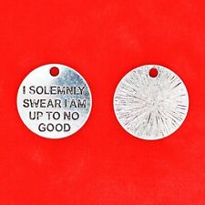 4 x Tibetan Silver I Solemnly Swear I Am Up To No Good Harry Potter Charms