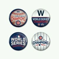 WinCraft MLB CHICAGO CUBS 2016 WORLD SERIES CHAMPIONS 4 PACK BUTTON SET