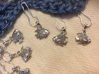 12 Stitch Marker, Knit, Crochet, Sew, Quilting. Tibetian Silver, FREE charm