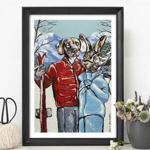 GILLIE AND MARC | Giclee Print Ltd Ed | Direct from Artists | Rabbit Dog Snow