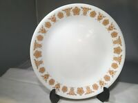 """CORELLE BUTTERFLY GOLD SALAD LUNCH PLATE 8-1/2"""" CORNING USA WHITE BROWN LUNCHEON"""