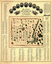 Map and directory of Camp Patterson Park Baltimore MD c1862 repro 24x30