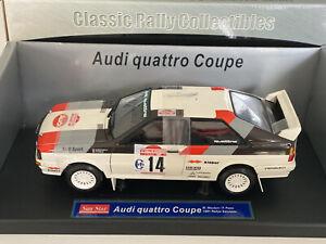Sun Star Audi Quattro Coupe 1:18 Diecast Model 1981 Rally Sanremo #4183