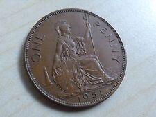 George VI Penny 1951 Nice Grade (myrefn12263)