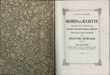 BERLIOZ : Romeo and Juliet Op. 17 : A Dramatic Symphony  Score Peters    H2.514