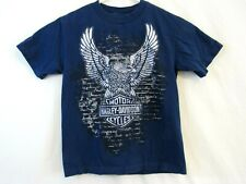 Harley-Davidson Mens size small Graphic T shirt Blue Oconomowoc, WI