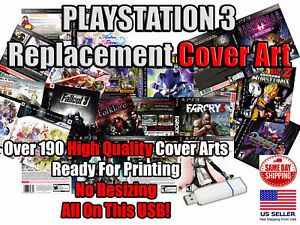 PlayStation 3 PS3 Replacement Game Cover Arts Box Arts USB PlayStation