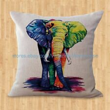 US SELLER- home decoration throw pillow coverlucky elephant animal cushion cover