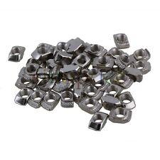 50pcs 20 Series European T-slot Carbon Steel Drop In M5 Thread T-Nut 10x6x4mm
