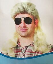 Fashion 70s 80s Mullet Wig Mens Costume Party Blonde Wig Fancy Dress Up