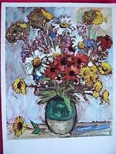 1 AK  Kunstkarte  PRO INFIRMIS Mireille Monod Lausanne Sommerblumen von 1963