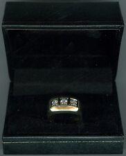 MENS THREE DIAMOND 10.4 GRAM 14K YELLOW GOLD RING
