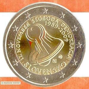 Sondermünzen Slowakei:2 Euro Münze 2009 Demokratie Sondermünze zwei€ Gedenkmünze