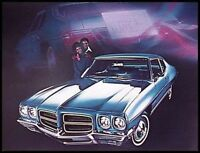 1972 Pontiac Brochure, GM GTO Firebird Trans AM Xlnt Original 72