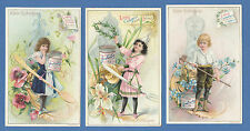 LIEBIG  -  RARE SET OF 6 CARDS  -  S 442  /  F 454  -  LITTLE  CHEFS  IV  - 1895
