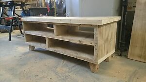 Reclaimed Rustic Farmhouse Scaffold Side Board TV Unit for Living Room
