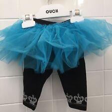 Haute Stuff Baby Girl Size 18m (1) Blue Black Tutu Leggings BNWT New Shower Gift