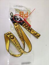 Off White Nylon Industrial Keyring Keychain Yellow BUNDLE DEAL LONG AND SHORT.