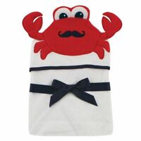 Hudson Baby Animal Face Hooded Towel, Mr. Crab